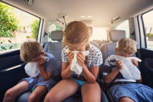 malade en voiture, cinetose, mal transport